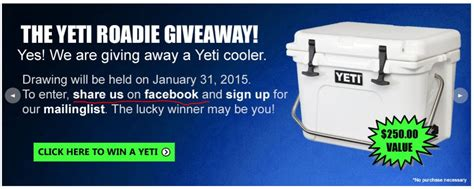 Yeti Cooler Giveaway - yeti roadie cooler giveaway the hull truth boating and fishing forum