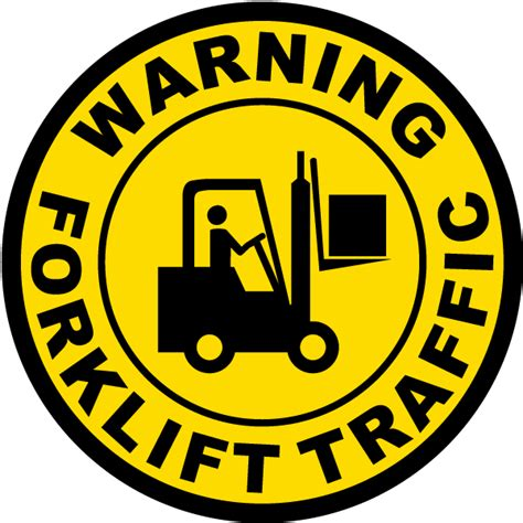 Sticker Safety Sign Forklift Traffic Area Forklift Traffic Floor Decal By Safetysign P4351