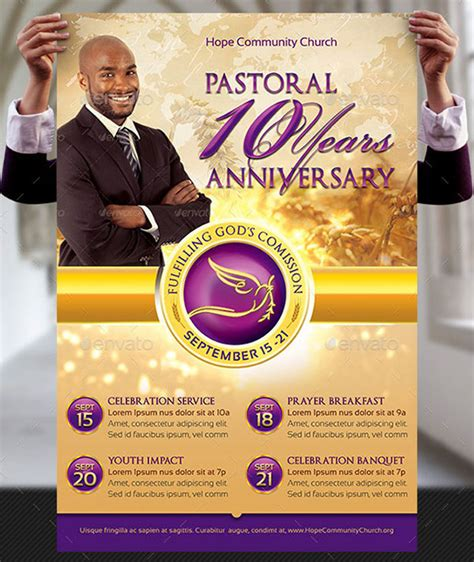 anniversary poster template clergy anniversary flyer and poster template on behance
