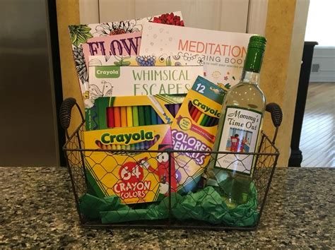 coloring book gift basket 1000 ideas about time out bottle on glitter