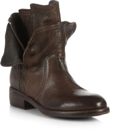 vera wang lavender ozita motorcycle leather ankle boots in