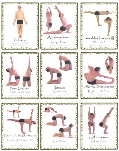 printable yoga pose flashcards yoga poses for beginners yoga pose cards free yoga cards