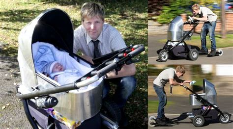 Gendongan Bayi 6 Bulan Untuk Naik Sepeda Motor unik kereta dorong bayi ini bisa ngebut di jalanan