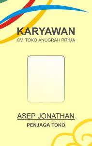 template id card panitia id card karyawan toko desain id card kemasaja