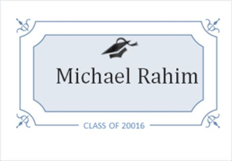 graduation name cards template word 6 customizable graduation templates for ms word document hub