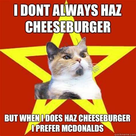 Cheeseburger Meme - image gallery haz cheeseburger