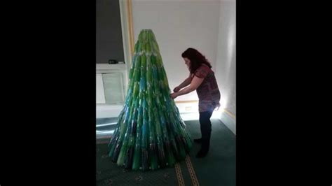 how to make a big christmas tree recycled plastic bottle tree