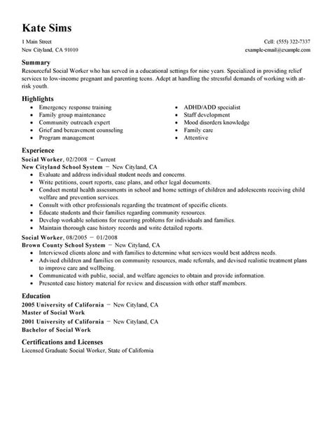 resume for child care free for download social work cover letter