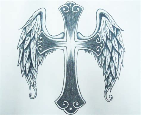 tattoo angel wings and cross cross tattoo with angel wings designs cross with angel
