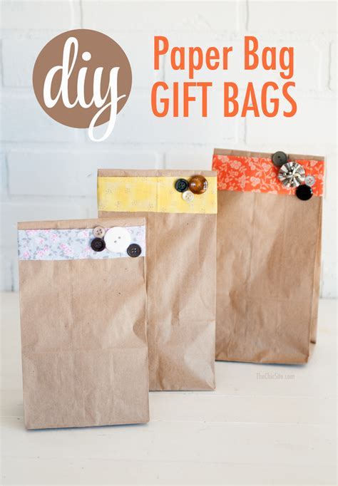 Make Paper Gift Bags - paper bag gift wrap the chic site