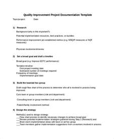 project documentation templates 6 free word pdf