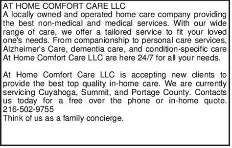 home comforts care agency at home comfort care llc child elderly care services