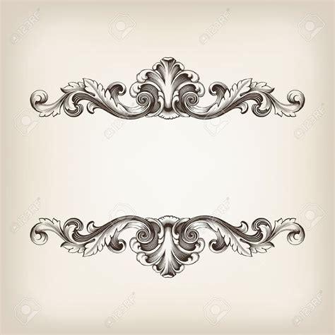 vintage ornament vector pattern vintage border frame filigree engraving with retro