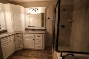 quot l quot shape master bath vanity bathroom vanities