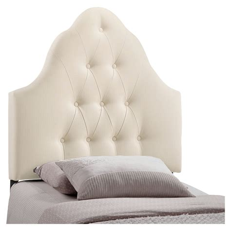 Sovereign Twin Button Tufted Fabric Headboard Dcg Stores