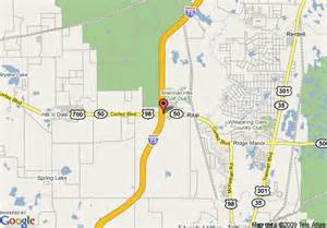map of hton inn brooksville dade city brooksville