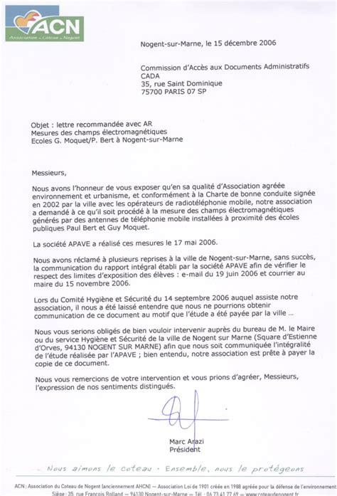 Exemple De Lettre En Forme Administrative Modele De Lettre Administrative Mairie Gratuit