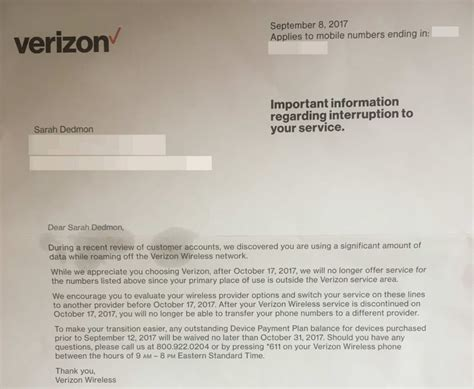 verizon up letter verizon kicking network for using just a few