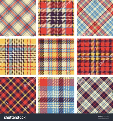 Plaid Pattern En Espanol | plaid patterns stock vector illustration 115705765