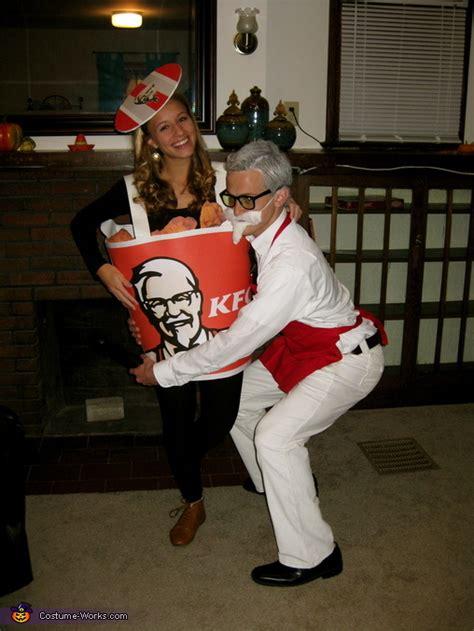 colonel sanders  bucket  fried chicken costume