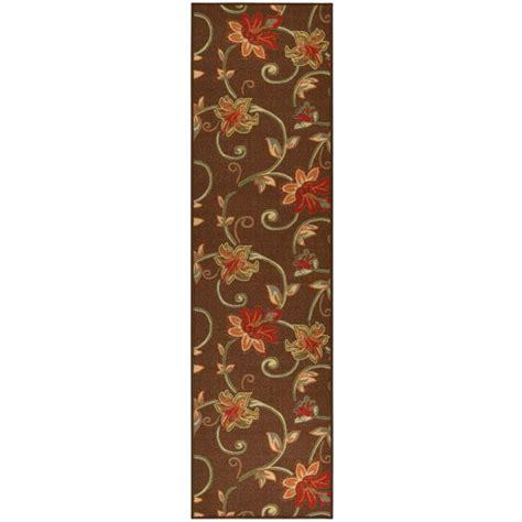 home design 7 x 10 ottomanson ottohome collection floral garden design brown