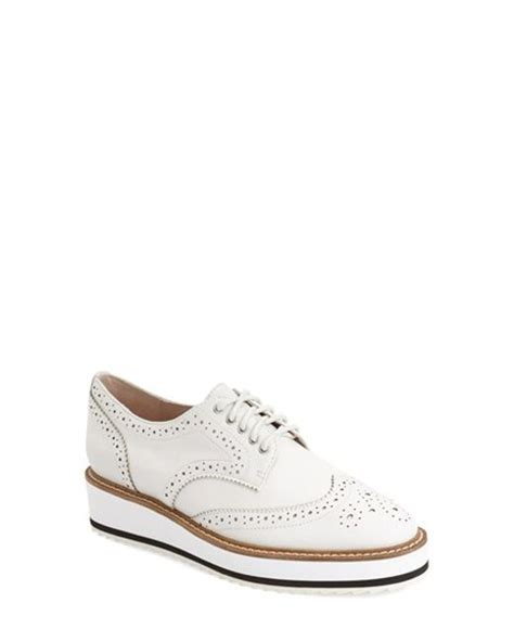 s platform oxford shoes shellys platform oxford shoes in white lyst