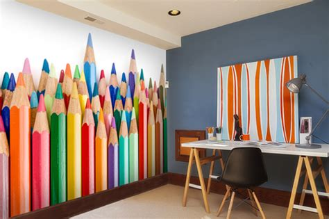 Faux Wall Painting Ideas - coloured pencil crayons wall mural murals pinterest wall murals walls and wallpaper decor