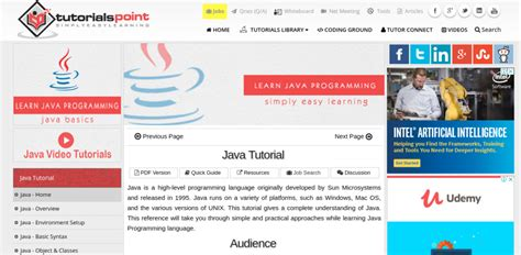 tutorial website java 8 incredibly useful websites to learn java for beginners