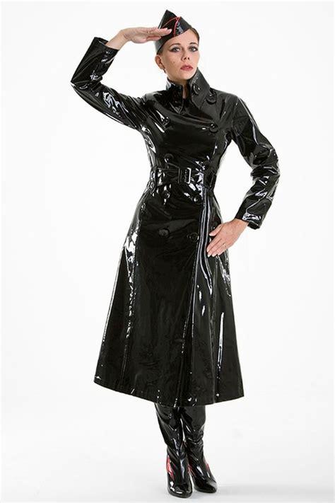 pvc vinyl trench coats lackina pvc vinyl coat red size s 3xl pvc vinyl