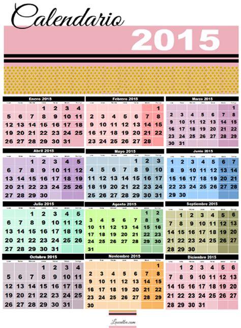 Calendario Con Todos Los Meses Luccalba Calendarios Imprimibles Para El 2015