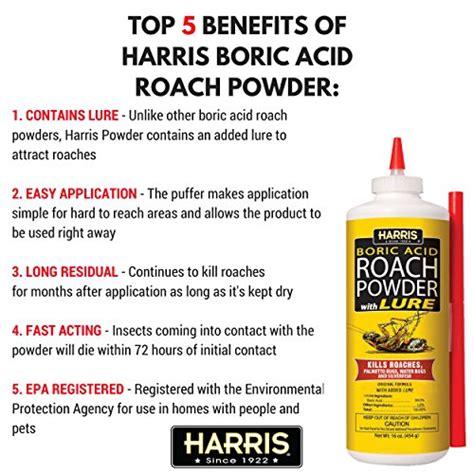 harris boric acid roach powder with lure 16 oz new ebay
