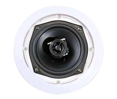 pyle home pdic61rd 6 5 inch 400w white round in ceiling