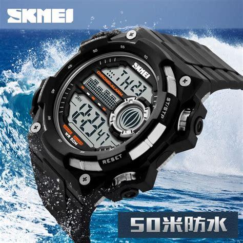 Best Seller Skmei Jam Tangan Pria Wanita Water Resistant 50m skmei jam tangan digital pria dg1115 black silver jakartanotebook