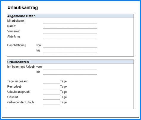 Word Vorlage Abreißzettel Urlaubsantrag Formular Invitation Templated