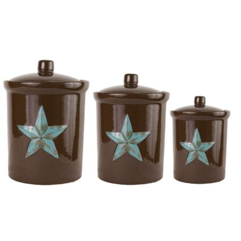 western kitchen canister sets laredo star western decor kitchen canister set