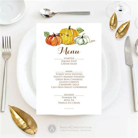 fall menu template printable autumn thanksgiving menu fall