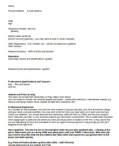 8 Resume Format Sles Sle Templates
