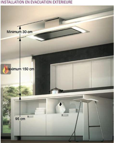 hotte cuisine plafond hotte de plafond avec 233 clairage par leds de 100cm de