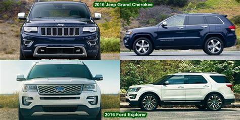 ford explorer vs jeep toyota 4runner vs ford explorer vs grand