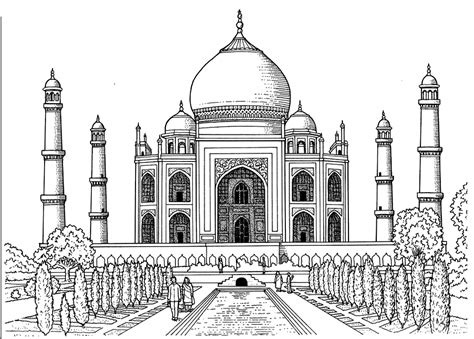 taj mahal difficult india bollywood coloring pages