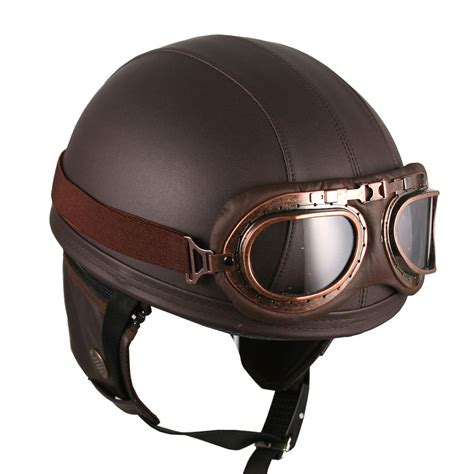 motocross style helmet dcprice motorcycle goggles vintage style retro brown