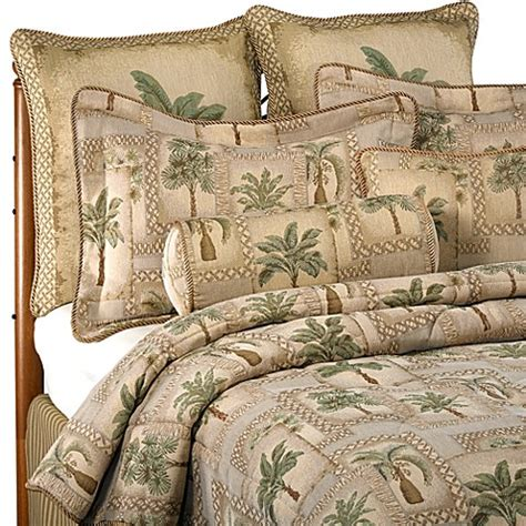 palm tree comforter sets palm grove comforter set bed bath beyond