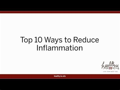 10 Ways To Channel Irritation by Top 10 Ways To Reduce Inflammation