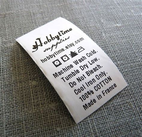 12 Best Care Labels Images On Pinterest Clothing Labels Fabrics And Tags Clothing Care Label Template