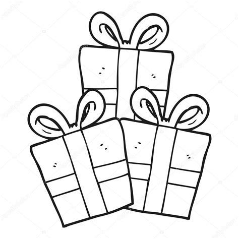imagenes en blanco y negro navidad regalos de navidad de dibujos animados blanco y negro