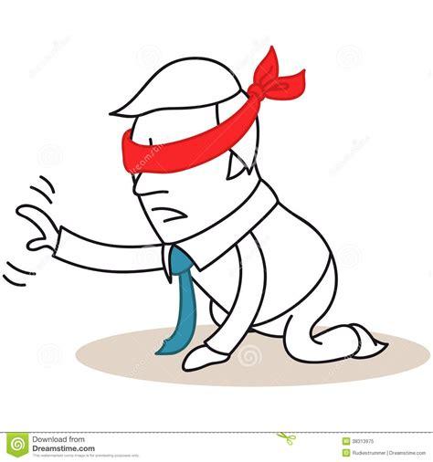Is 2d Blind Hombre De Negocios Vendado Los Ojos De En Sus Rodillas