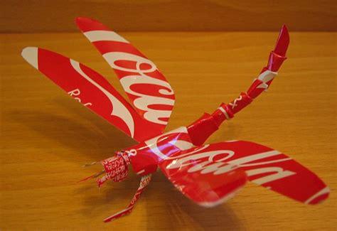 membuat robot capung action figure tokoh kartun dari kaleng minuman bekas