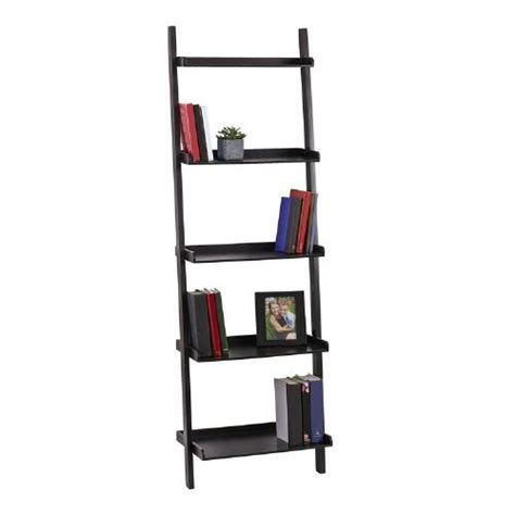black 5 tier ladder bookcase tree shops andthat
