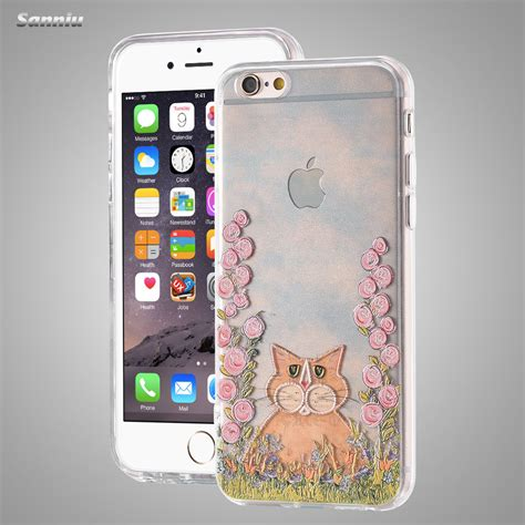 Hardcase 3d Iphone 6 Sanniu 6s 3d Relief Plastic For Iphone 6 6s