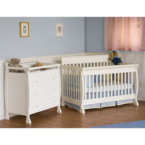 Davinci Kalani Convertible Crib Davinci Kalani 4 In 1 Convertible Wood Crib Nursery Set W Toddler Rail In White Farmhouse